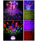 Crystal Magic Ball Rotating LED Stage Light Sound Activated