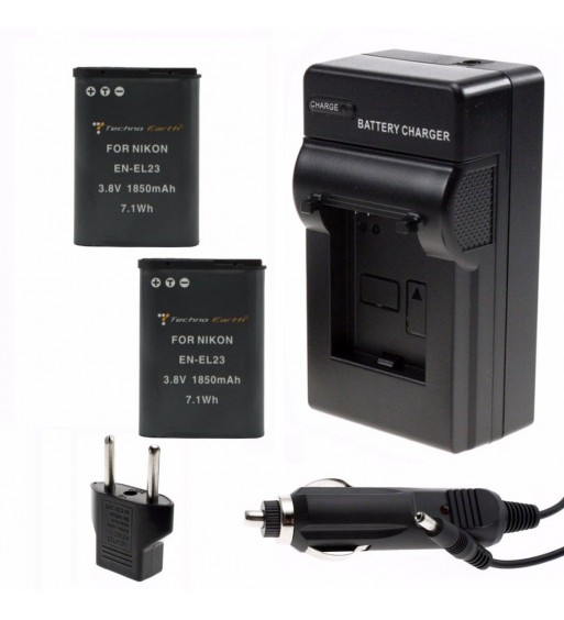 NIKON COOLPIX P600 ENEL23 Battery and Charger