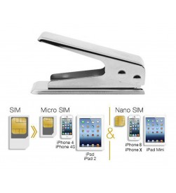 Standard Micro Nano Sim Card Cutter with Adaptor