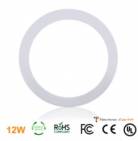 Dimmable Ceiling Panel Led Ultra Thin 12W Round - Cool White