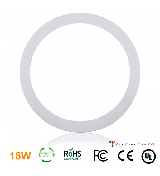 Dimmable Ceiling Panel Led Ultra Thin 18W Round - Cool White