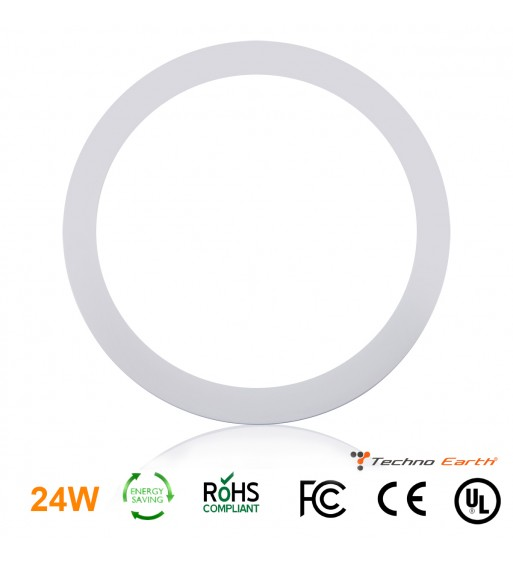 Dimmable Ceiling Panel Led Ultra Thin 24W Round - Natural White