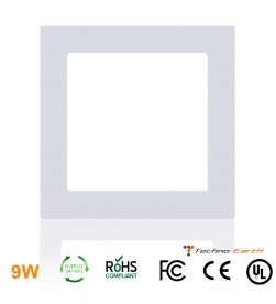 Dimmable Ceiling Panel Led Ultra Thin 9W Square - Warm White