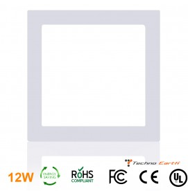 Dimmable Ceiling Panel Led Ultra Thin 12W Square - Cool White