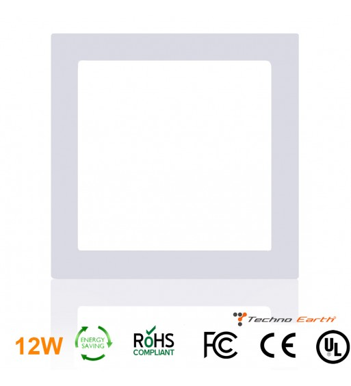 Dimmable Ceiling Panel Led Ultra Thin 12W Square - Warm White