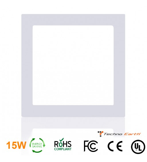 Dimmable Ceiling Panel Led Ultra Thin 15W Square - Cool White