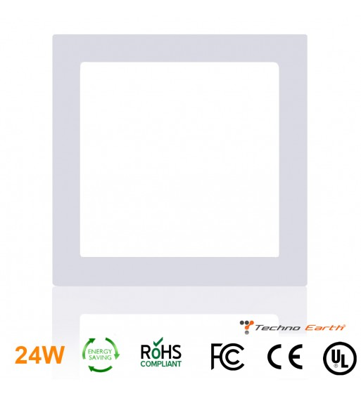 Dimmable Ceiling Panel Led Ultra Thin 24W Square - Warm White