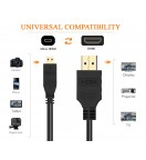 High Speed Micro-HDMI (Typ D) to HDMI (Typ A) Cable