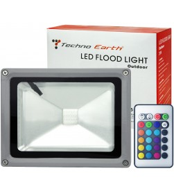 RGB LED Flood Light Outdoor  Waterproof 16 Colors Spotlight - 20W