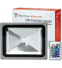 RGB LED Flood Light Outdoor  Waterproof 16 Colors Spotlight - 30W